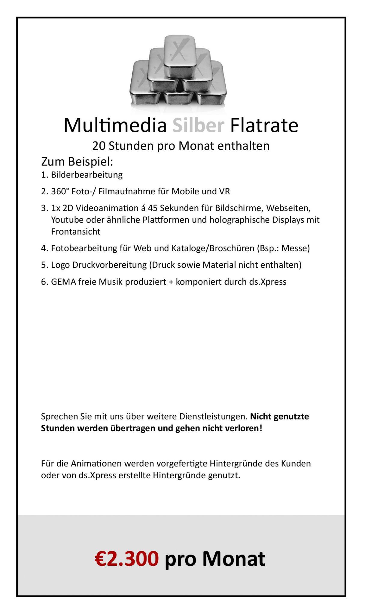 Multimedia Flatrate Silber03